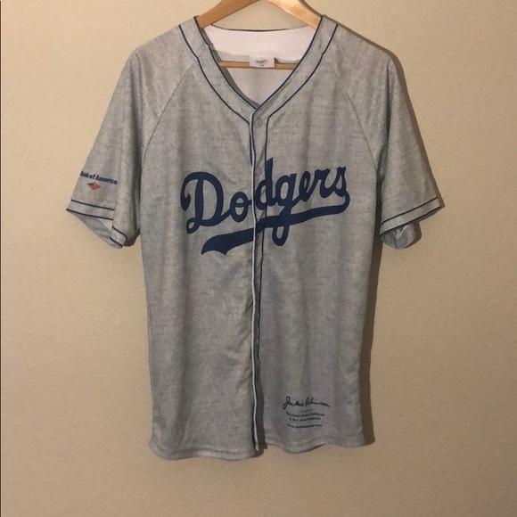Vintage MLB dodgers Jackie Robinson Jersey Men s M.  M 5bea685ea31c3339af311998 9dc7b449bb4